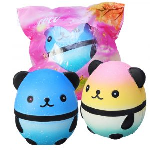 Squishy Panda Docka Egg Slow Rising Med Packaging Collection Present Inredning Soft Squeeze Toy