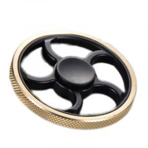 EDC Cirkulär Pattern Fidget Creative Fingrar Mellan Spiral Leksaker Round Finger Gyro Minska Stress