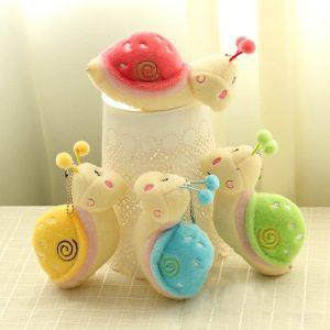 Söt Snail DjurFluffy Plush Fylld Hängsmycke Toy Present