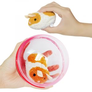 Elektrisk Running Hamster Rolling Ball Rolig Liten Plush DjurCompression Fylld Toy 13 * 9.5 * 13cm
