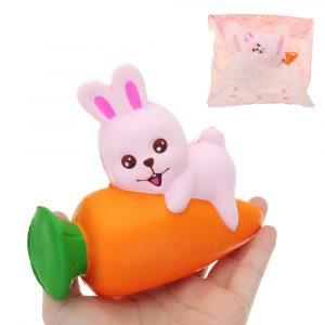 Kanin Squishy 13 * 11,5 * 5 CM långsammare med Packaging Collection Present Soft Toy