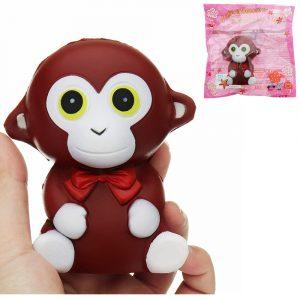 Monkey Squishy 10,5 * 9 * 7cm långsammare mjukdjurs samling presentdräkt leksak med förpackning