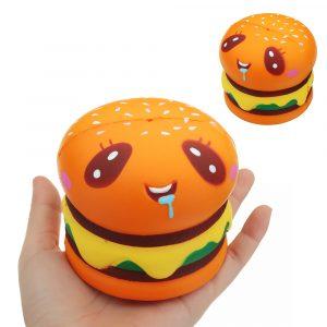Burger Cat Squishy 8 * 8,5 CM långsam stigande samling gåva mjuk rolig djurleksak