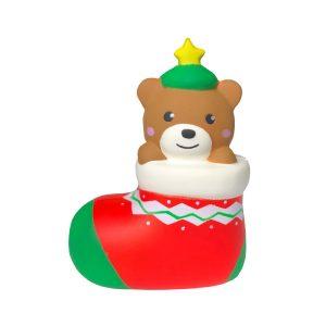 Julklapp Squishy Footwear Bear 13.5cm Söt dekorationssamling med förpackning