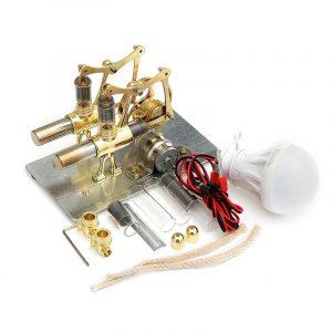 STEM Mini Hot Air Stirling Motor Generator Dubbel Cylinder Motor Modell