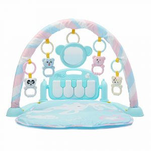 3-i-1 Gullig Rainforest Musical Lullaby Bassinet Babyaktivitet Playmat Gym Toy Play Mat
