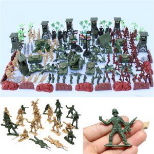 170 st Soldier Scenmodell Set Leksaker För Barn Barn Present