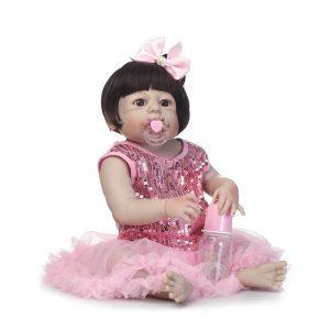 57cm Reborn Babe Full Vinyl Mjukt Silikon Body Nyfödd Baby Docka Toy Födelsedag Julklappar