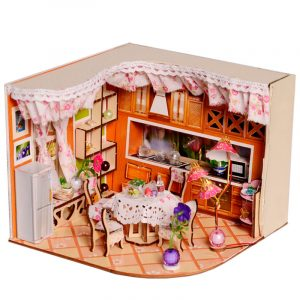 Merry Puzzle Sweet Home Habitat Room DIY dockhus Kit med LED Light Wood Decoration