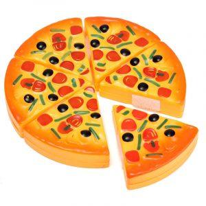 ABS Plast Pizza Klippskivor Toppings Simulering Barn Barn Kök Spela Matleksaker