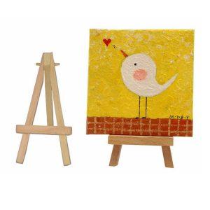 Mini Wood Artist Easel Bröllopnummer Plats Namn bild Stand Displayhållare