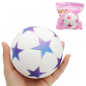 Star Football Squishy 9.5cm långsammare med Packaging Collection Present Soft Toy