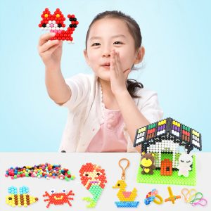 1200st DIY Fuse Pärla Plast Perler Sticky Vatten Pärlor Leksaker Roligt För Barn DIY Hantverk Present