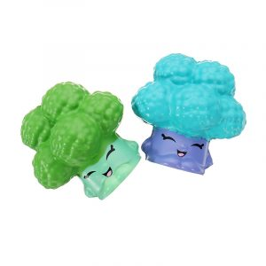 2 st Broccoli Squishy 6,5 * 3,5 cm långsammare mjuk kollektion present inredning leksak