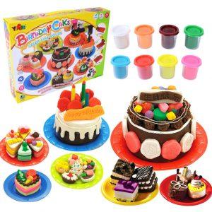 Söta barn köksleksaker födelsedagstårta färglera klädsel handgjorda leksaker