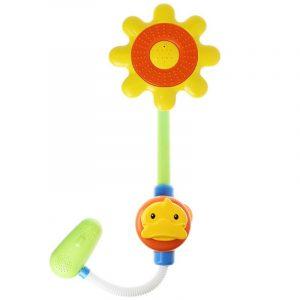 Cikoo Yellow Duck Duschhuvud för barnkranar Vattenprydnadsverktyg Babybadleksaker