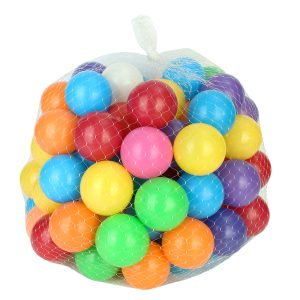 100st 8cm Baby barn Pit Toy Swim Färgglada Mjuka Plast Ocean Ball Novelties Leksaker