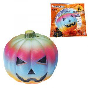 10cm Färgglada pumpa Toy Simulering PU Bröd Halloween Gåvor Mjuk Decor Toy Original Förpackning