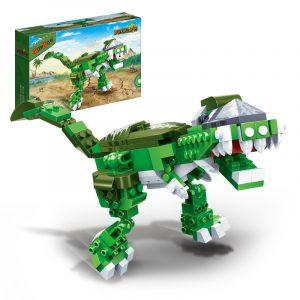 Tyrannosaur Jurassic Dinosaur World Park DjurBlockerar, Pedagogiska & Bygga Tegelstenar Leksaker