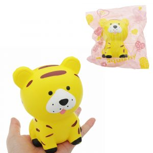 Tiger Squishy Toy 11,5 * 9cm långsammare med Packaging Collection Present