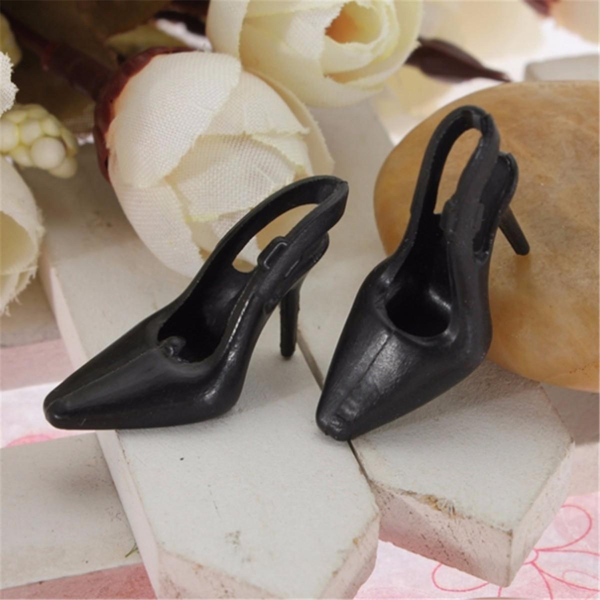 10 Par Fashion Dockas Heels Skor Sandaler För Barbie Docka