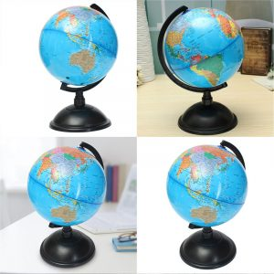 20cm Blå Ocean World Globe Map Med Swivel Stand Geografi Pedagogiska Toy Present