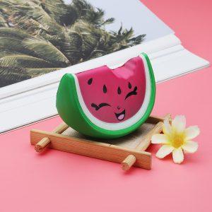 Meistoyland Squishy Mini Pink Smile Vattenmelon Frukt Squishy Långsam Rising Toy Soft Mini Cute Toy