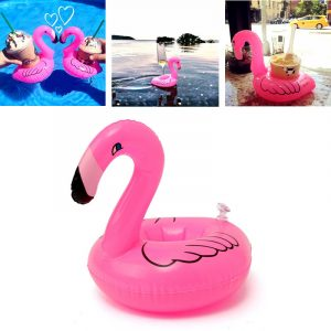 5st Uppblåsbara Flamingo Dryck Kan Hållare Party Pool Heminredning barns Toy