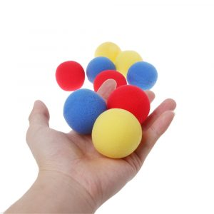 10st Blue Close Up Magic Street Trick Mjuk Svamp Ball 45mm Magic Props Clown Nose