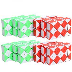 Classic Magic Cube Leksaker Rektangel PVC Klistermärke Block Puzzle Speed Cube