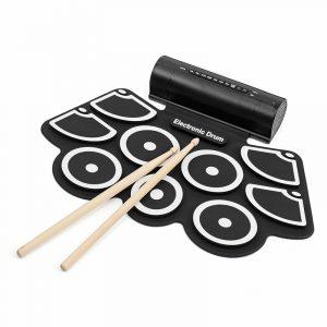 KONIX MD760L bärbara USB 9-pads Rulla upp elektronisk trumma med inbyggda batteriet trumma