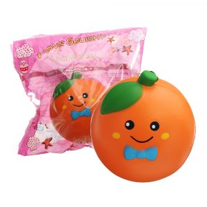 10cm Frukt Orange Squishy Långsam Rising Med Packaging Collection Present Soft Toy