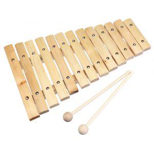 13 Tone Wooden Xylophone Musical Piano Instrument för Barn barn