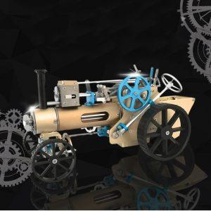 Undervisning DM34 Ångbil Modell Stirling Engine Full Metal Modell Toy Collection Gift Decor