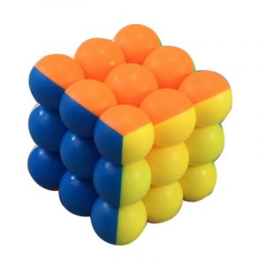 Classic Round Ball Magic Cube Leksaker 3x3x3 PVC Sticker Block Pussel Speed ​​Cube
