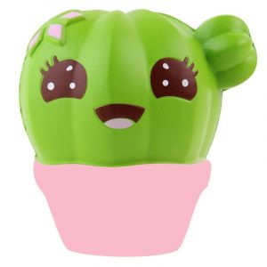 10CM Scented Squishy Potted Cactus Långsam Rising Soft Stress Relief Kawaii Fun Toy