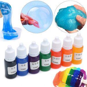 7 Färger Pigment DIY Snö Mud Styrofoam Slime Kit Pedagogiska Leksaker Present DIY 10ml