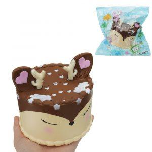 Antler Cake Squishy Toy 11,5 * 12,5 CM långsammare med Packaging Collection Present