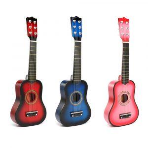 21 tum 6 trådar trä akustisk gitarr Ukulele musikinstrument leksaker för barn gåva