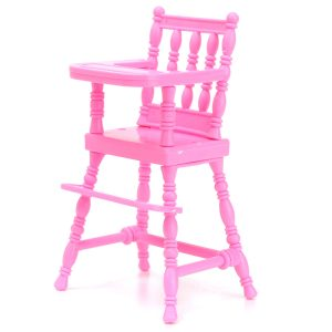 Pink Miniature Chair Toy Furniture För Dockhus Decoration