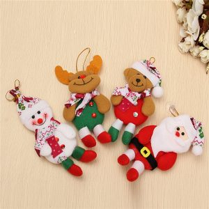 Snowman Bear Elk Prydnad Jul Klassisk Tree Decoration Home Decor