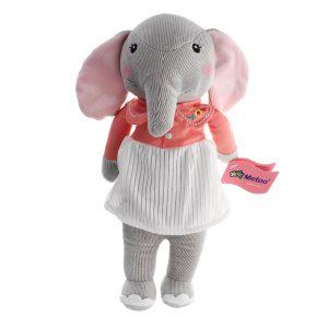 12,5 tums Metoo Elephant Docka Plush söt härlig Kawaii fylld baby leksak för flickor födelsedag