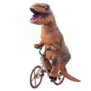 Dinosaur Vuxna Uppblåsbara Leksaker Kläder 210 x 98cm Modeller Luft Blås Upp Kostym Rolig Halloween Toy