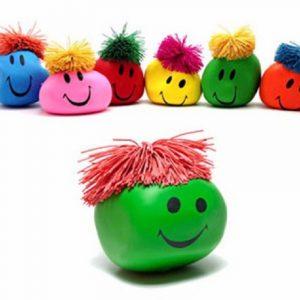 1PC Rolig Nyhet Present Kreativ Vent Människa Ansiktsboll Anti Stress Relief Toy Mjukt studsande
