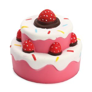 11cm Jumbo Squishy Strawberry Cake Scented Super Slow Rising barns Toy Söt Gåva