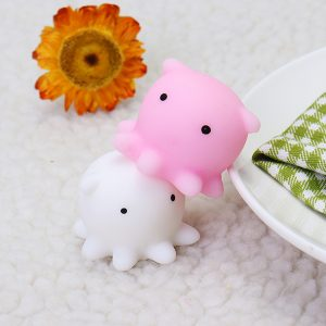 Octopus Squishy Squeeze Cute Mochi Healing Toy Kawaii Collection Stress Reliever Present Inredning