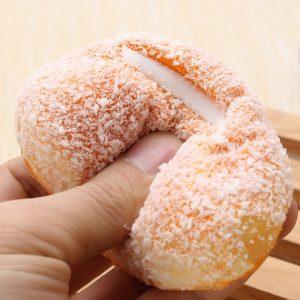 12cm Squishy Mjukt Bröd Med Kokosnöt Smyckes Telefonband Dekoration