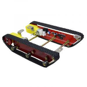 Smart Robot Tank Chassis Kit Caterpillar Crawler Integrerad Två motor för Arduino