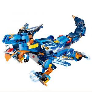 MoFun Battle Dragon DIY 2.4G 4CH Radiostyrda Robot Blockbyggnad Infraröd Control Assembled Robot Leksaker