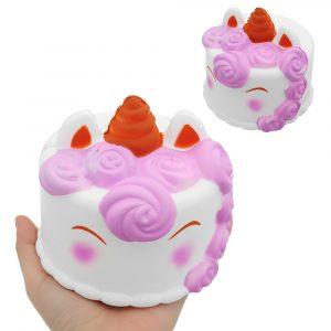 Unicorn Cake Squishy 12 * 12CM 118G Långsam Rising Collection Present Soft Toy